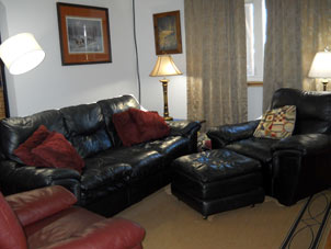 livingroom of rental